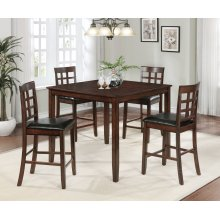 Blaire 5 Pc Square Counter Height Pub Set