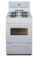 24 in. Freestanding Gas Range in White Product Image