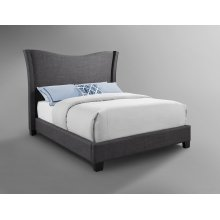 Carbon Upholstered Bed - Queen