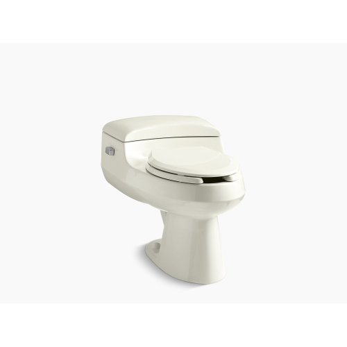 Biscuit Comfort Height One-piece Elongated 1.0 Gpf Toilet With Pressure Lite Flushing Technology, Includes Seat