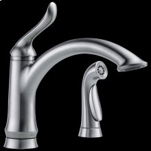 Arctic Stainless Single Handle Kitchen Faucet with Spray