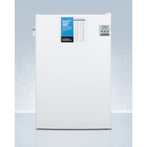 SummitCounter Height Manual Defrost All-freezer With Side Lock, Nist Calibrated Thermometer, and 5 CU.FT. Capacity