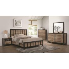 Edgewater Industrial Weathered Oak Twin Four-piece Set