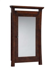 Pacific Rim Solid Wood Framed Medicine Cabinet in Vintage Walnut