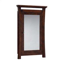 Pacific Rim Solid Wood Framed Medicine Cabinet in Vintage Walnut