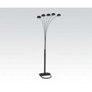 5cap Style Flor Lamp/bk