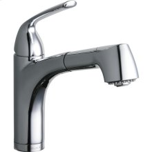 Elkay Gourmet Single Hole Bar Faucet Pull-out Spray and Lever Handle Chrome