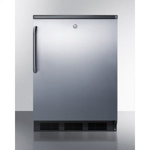 Commercially Listed Freestanding All-refrigerator for General Purpose Use, Auto Defrost W/ss Wrapped Door, Towel Bar Handle, Lock, and Black Cabinet -