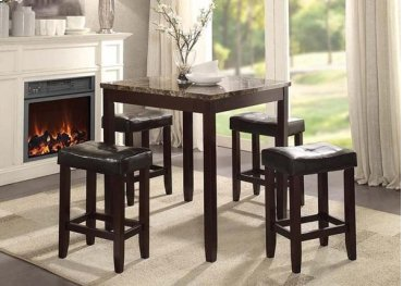 5PC PK COUNTER H. DINING SET