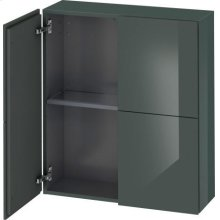 Semi-tall Cabinet, Dolomiti Gray High Gloss Lacquer