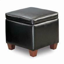 Causal Black Storage Ottoman