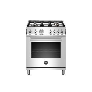 Bertazzoni30 inch All Gas Range, 4 Brass Burner Stainless Steel