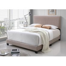 Jessica Cream Fabric Upholstered Queen Bed