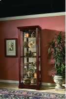 Two Way Sldg Door Curio Victorian Cherry Product Image