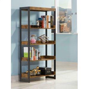 CoasterEstrella Industrial Antique Nutmeg Bookcase