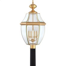 Newbury Outdoor Lantern in Polished Brass