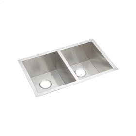 "Elkay Crosstown 16 Gauge Stainless Steel, 30-3/4"" x 18-1/2"" x 10"" Equal Double Bowl Undermount Sink"