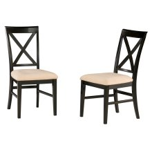 Lexi Dining Chairs Set of 2 with Oatmeal Cushion in Espresso