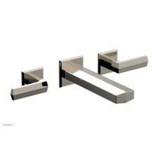 DIAMA Wall Lavatory Set - Lever Handles 184-12 - Polished Nickel