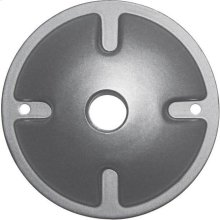 1-Light Mounting Plate - Light Gray Finish