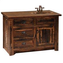"""Barnwood Vanity - 42"""" without Top - Sink Center - Barnwood Legs"""