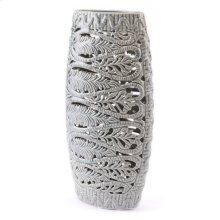 Leaves Tall Vase Gray