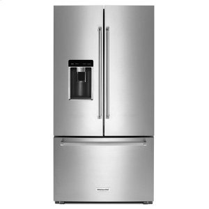 "KitchenAid23.8 cu. ft. 36"" Counter-Depth French Door Platinum Interior Refrigerator Stainless Steel"