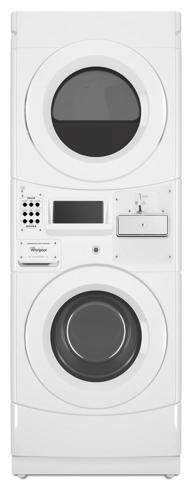WhirlpoolCommercial Electric Stack Washer/dryer, Coin Equipped