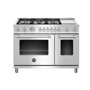 "Bertazzoni48"" Master Series range - Gas Oven - 6 brass burners + griddle - LP version"