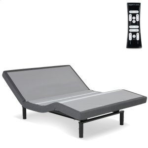 Fashion Bed GroupS-Cape 2.0+ Adjustable Bed Base with (2) 4-Port USB Hub's and Full Body Massage, Charcoal Gray Finish, Queen