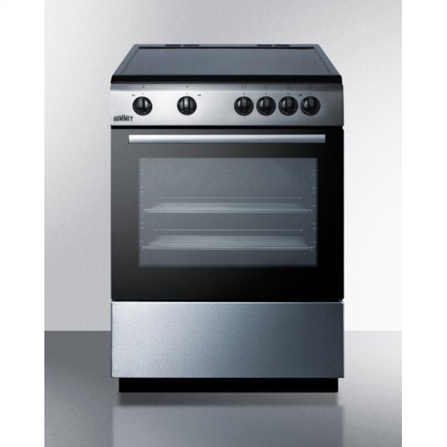 """Summit 24"""" Wide Smooth Top Electric Range"""