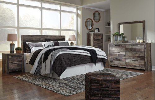 Derekson - Multi Gray 2 Piece Bedroom Set