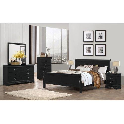 LP Black Queen Bed