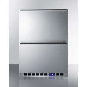 SummitBuilt-in Undercounter Two-drawer All-refrigerator In Complete Stainless Steel With Panel-ready Drawer Fronts