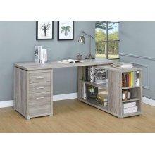 Yvette Grey Driftwood L-shaped Office Desk