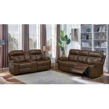 Zimmerman Brown Faux Leather Two-piece Living Room Set
