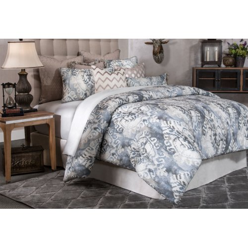 9pc Queen Comforter Set Smoke