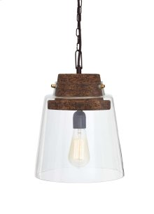 Glass Pendant Light (1/CN) Hakeem - Clear/Brown Collection ashley at Aztec Distribution Center Houston Texas
