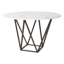 Tintern Dining Table Stone & Antique Brass
