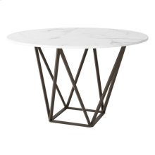 Tintern Dining Table Stone & Antique Brass