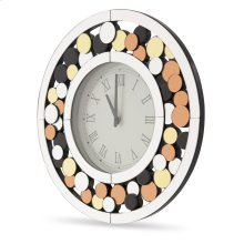 Round Clock W/colored Accents