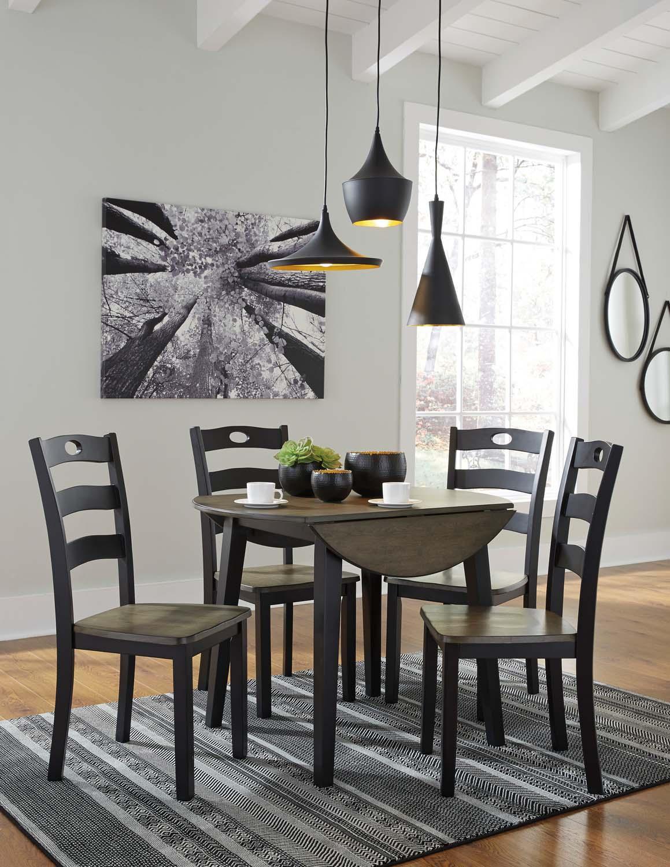 Froshburg   Grayish Brown/Black Set Of 2 Dining Room Chairs