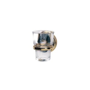 VALENCIA Wall Mounted Glass Holder KMC30 - Polished Brass