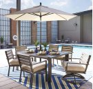 Peachstone - Beige/Brown 4 Piece Patio Set Product Image