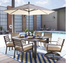 Peachstone - Beige/Brown 4 Piece Patio Set