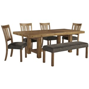 AshleySIGNATURE DESIGN BY ASHLEYTamilo - Gray/Brown 6 Piece Dining Room Set