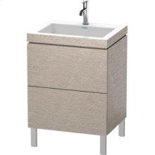 Furniture Washbasin C-bonded With Vanity Floorstanding, Cashmere Oak