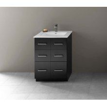"Lassen 24"" Eco-Friendly Bathroom Vanity Cabinet Base in Black"