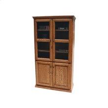 """Traditonal Alder 24"""" 4-Door Bookcase"""