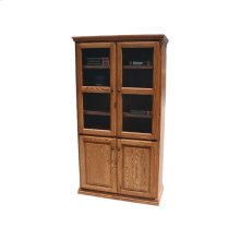 "Traditional Alder 36"" 4-Door Bookcase"